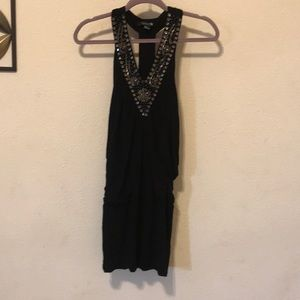 Black dress, forever 21, with grey beading, medium